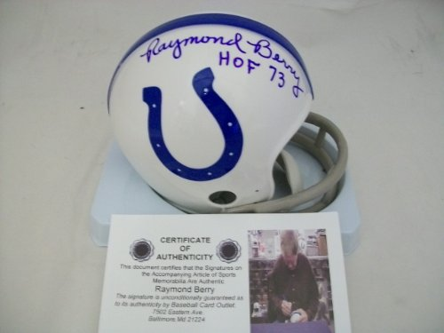 Raymond Berry Baltimore Colts Autographed Mini Helmet ()