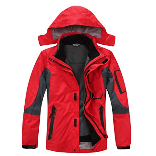Fleece Outdoor Jacket Waterproof Liner Red Men's Jacket Detachable Windproof RSp1wqCq