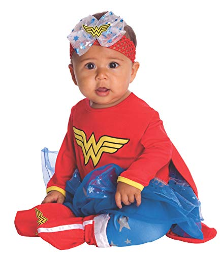 DC Comics Baby Wonder Woman Onesie And Headpiece, Red, Newborn Costume]()