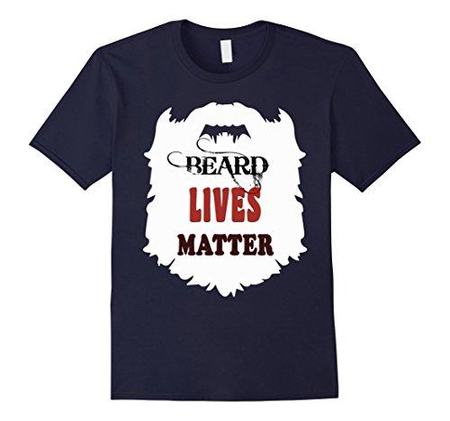 Mens beards live gift t shirts, bearded man funny b day tees hair 2XL Navy -