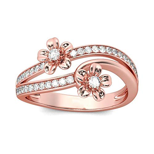 Gold V-shaped Ring Ring - V-MONI Closed Snowflake Butterfly Shaped Zircon Ring Rose Gold 925 Silver Simple Personality Ring 03408