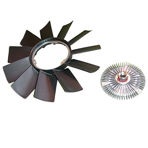 Carrep Radiator Cooling Fan Blade & Fan clutch for BMW Z3 E32 E34 E36 E39 E46 E53 11527505302 11521740963 - E39 Cooling