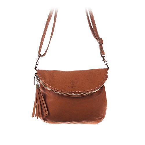 in 23x19x4 Bag Made Half borsa vera Firenze in Italiana Savage Touch pelle Italy cm Pelle Moon Colore pelle Flap Artegiani donna Vera Borsa Soft Z5w6qnR6z