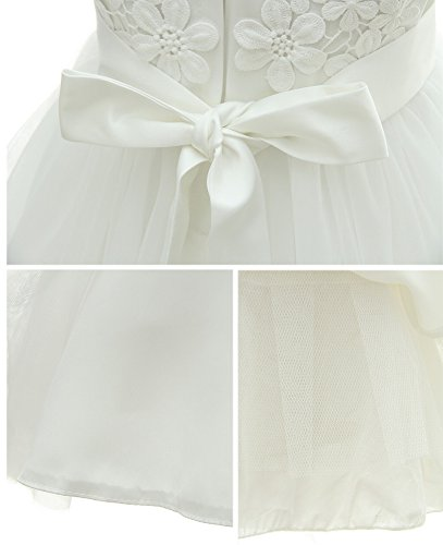 Greatop Baby Girls Dress Christening Baptism Party Formal Dress(White(Style 2),18M/15-18Month) by Greatop (Image #5)