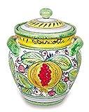 Handmade Frutta Mista Biscotti Jar From Italy