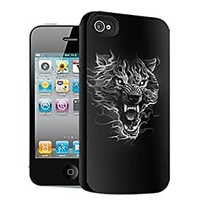 Mini - Wolf Pattern 3D Effect Case for iPhone4/4S