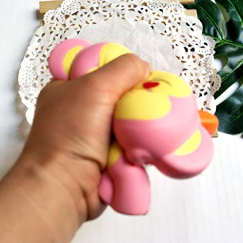 Monkey Squishy Toys Jumbo Scented Charm Squeeze Toys Stress Relief Animal Toys Slow Rising Kawaii Sensory Fidget Hand Toy for Kids Adults (Pink) by Codiak-Entertainment (Image #3)