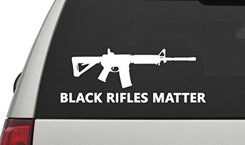 61d57134c7a Black Rifles Matter AR-15 Decal Sticker for Car Truck - White ...