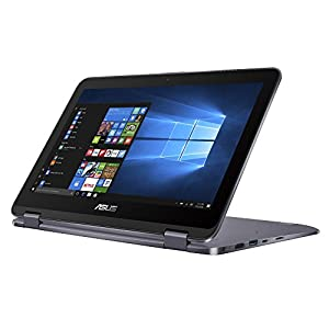 "2018 Newest Flagship Asus VivoBook Flip 12 11.6"" 2-in-1 HD Touchscreen Business Laptop/tablet w/ Asus Stylus Pen- Intel N3350 1.1GHz 4GB RAM 500GB HDD FingerPrint Reader USB Type-C 802.11ac Win 10"