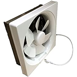 Professional Grade Products 9800394 Shutter Exhaust Fan for Garage Shed Pole Barn Hydroponic Ventilation, 265 CFM, 6""