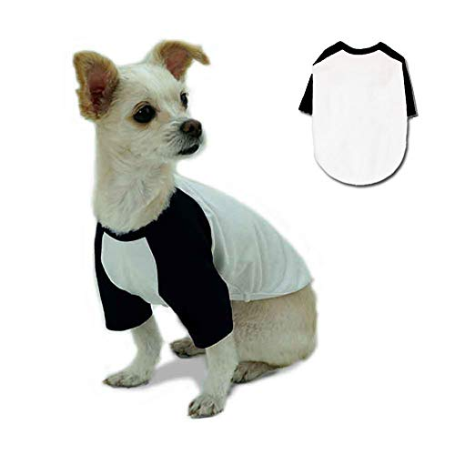 Lucky Petter Pet Clothes for Dog Cat Puppy Raglan T-Shirts Durable and Elastic Pet Apparel Outfits (X-Large, Black)