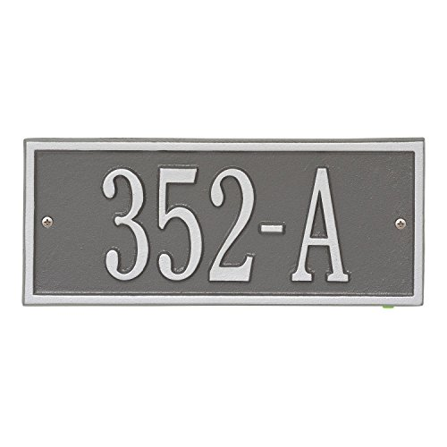 Whitehall Personalized Cast Metal Address Plaque - Small Hartford Custom House Number Sign - 10.5'' x 4.25'' - Allows Special Characters - Pewter/Silver by Whitehall (Image #5)