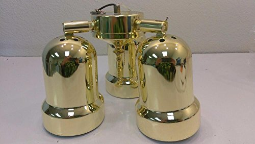 Bright Brass Light Kits (3-spotlight Fan Light Kit with Bright Brass Finish)