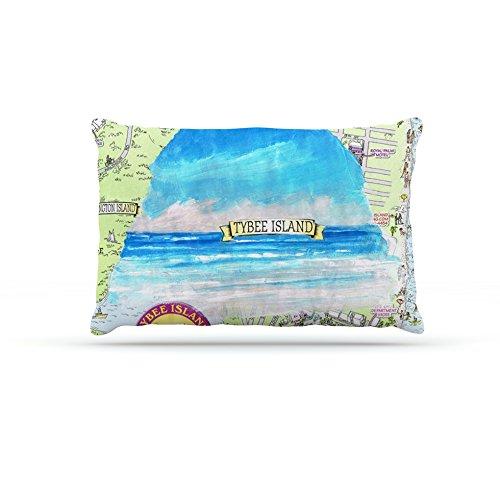 Kess InHouse Rosie Brown Tybee Island  Fleece Dog Bed, 50 by 60 , Ocean View