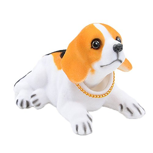 Flee Bobble Head Dog Doll Shaking His Head Puppy Cute Decorations for Car Creative Gift (Beagle)