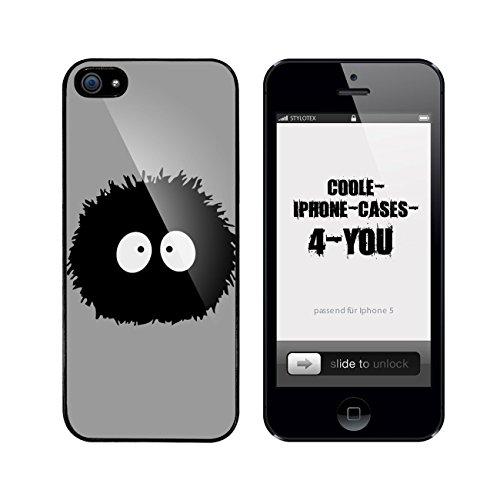 Iphone 5 / 5S Schutzhülle Wuschel - schwarzer Rahmen