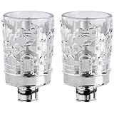 1 X Silver Plated Jerusalem Designed <br>Neronim Votive Candle Holders with Glass by Karshi
