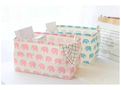 Gelaiken Lightweight Elephant Storage Box Cotton and Linen storage Basket Sundries Storage Bag(Random Color) by Gelaiken