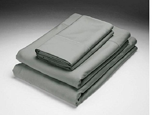 Home Source Bamboo (Home Source BLACK PEARL QUEEN Bed 250 TC Bamboo Flat & Fitted Sheets Set)