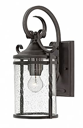 "Hinkley Lighting 1144-CL Casa Single Light 17-1/2"" High Outdoor Wall Sconce with, Olde Black"