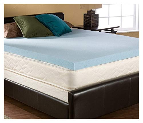 2 Inch Queen Size Accu-Gel Infused Visco Elastic Memory Foam Mattress Topper Made in The USA