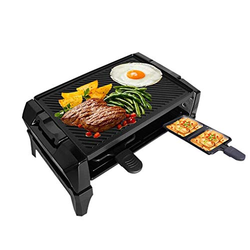 LYATW Electric Grill Outdoor and Indoor,smokeless Grill with Removable Easy-to-Clean Nonstick Plate, Extra-Large Drip Tray