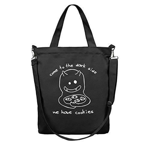 Women Tote Craft Bag Large Capacity Handles Shopping Bag Come To The Dark Side Body Handbag Atural Work Shoulder Bag Washable & Eco-Friendly Beach Tote Duck Bag Travel Crossbody Bag