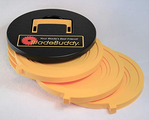(BladeBuddy Circular Saw Blade Storage with Three Tiered Drawers for a Portable Container)