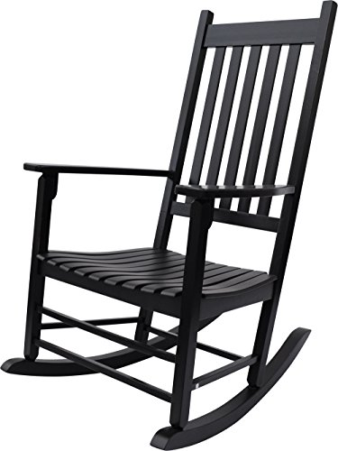 Shine Company Vermont Porch Rocker, Black (Black Outdoor Rocking Chair compare prices)