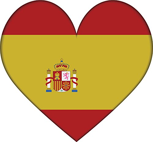 Spain Heart Flag Home Decal Vinyl Sticker 13'' X 12'' by innagrom