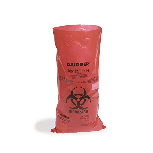 Daigger 1002F-DS Autoclavable Biohazard Bags 2.0 mm 19 x 23'' (Pack of 200)