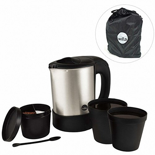 Wilfa TK-1000 Free Volt (120-240 Volt/ 50-60Hz) Electric Jug Kettle. Dual Voltage for Worldwide Travel by Wilfa