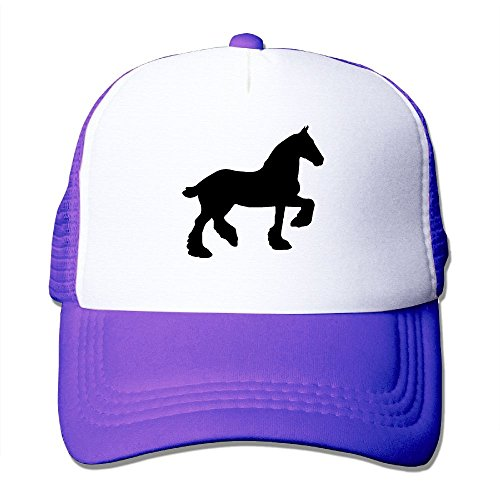 XiaoHans Men's Draft Horse Silhouette Casual Style Golf Purple Mesh Cap Adjustable - Kids For Silhouette Glasses