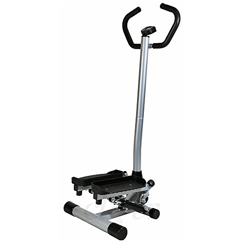 Clevr Twister Stepper w/Handle Bar Step Machine Cardio Training Stair Climber ()