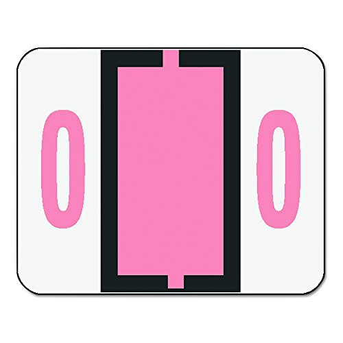 Smead BCCRN Bar-Style Numeric Color-Coded Labels, Number 0, Pink, 500 Labels per Roll (67370)