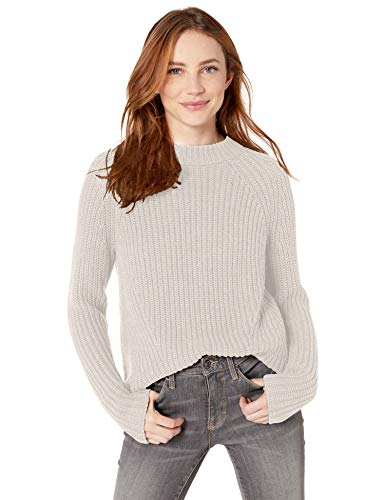 Amazon Brand - Goodthreads Women's Relaxed Fit Cotton Shaker Stitch Mock Neck Sweater