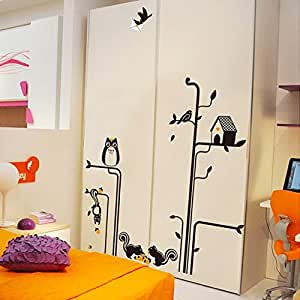 Owl Living Room Bedroom Background Decorative Wall Sticker