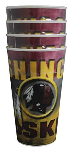 Braxx Washington Redskins 18oz 3D Tumbler 4pk