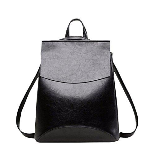 Retro à Femme Trend Black Shoulder College Bandoulière à Bandoulière Bag Cuir Sac En Sac Lady d8wZSI