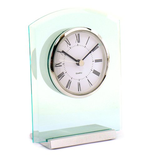 (Semi Arch Acrylic Desktop Clock with Plate)