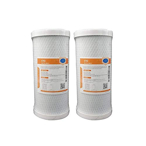 MS Whole House CTO Coconut Shell Replacement Filter Cartridge 10 x 4.5 2-Pack MS Whole House CTO Coconut Shell Replacement Filter Cartridge 10 x 4.5 Membrane Solutions Corp 5 Micron Carbon Block Water Filter Cartridge