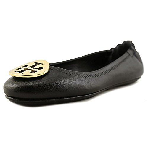 Tory Burch Women's Minnie Travel Black Nappa Leather Flat 38()-8(US) Black -