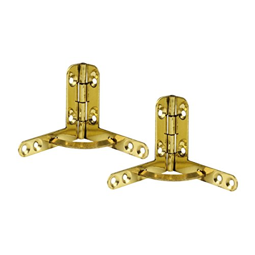 RZDEAL A Pair Brass Folding Lid Support Hinge 90 Degree Open Angle Furniture Hardware Accessory for Jewelry Box Toolbox (DIY) (Hardware Jewelry)