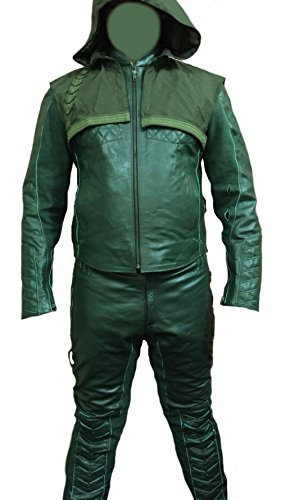 Celebrita X Arrow Suit CX125 Sheep Leather - Green XL - For Chest 44