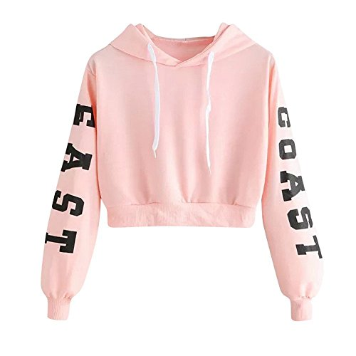 Pants Energie Denim (Cute Sweatshirts for Teen Girls Crop Top Womens Letters Long Sleeve Hoodie Sweatshirt Pullover Tops Blouse PK/S)