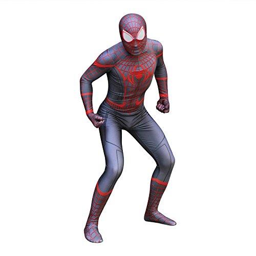 Amazon.com: Spiderman Miles Morales Cosplay Costume Zentai ...