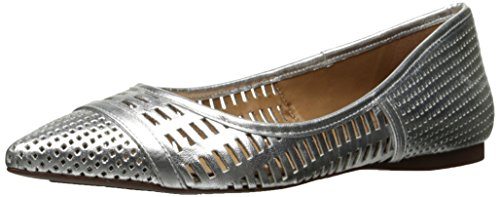 French Sole FS/NY womens Vivid Silver Leather 5N7H0D