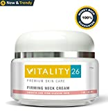 tighten Vitality26 Firming Neck Cream - Not Greasy - Premium Quality - Firming Body Lotion Tightens Neck Skin and Reduces the Appearance of Wrinkles - Made with Marine Collagen,Elastin and Vitamin E - Natural