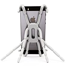 Efanr® Universal Multi-function Portable Spider Flexible Grip Smart Phones GPS Car Bicycle Bike Desk Plane Cup Book Support Cell Mobile Phone Holder Hanging Mount and Stand for iPhone 4/4S/5/5S/6 Samsung Galaxy Note 4 3 2 S5 S4 S3 HTC Nokia LG MOTOROLA SONY MP4 Andriod (White)