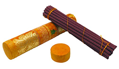 Juccini Tibetan Incense Sticks ~ Hand Rolled Meditation Incense Made from Organic Himalayan Herbs (Meditation Incense)
